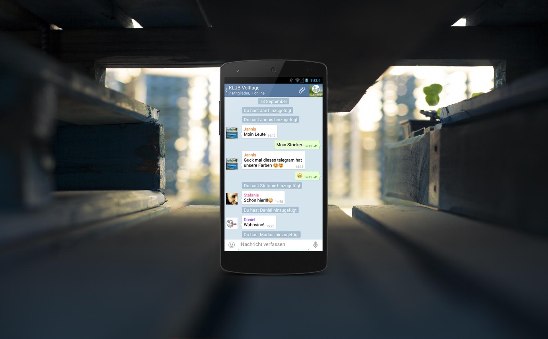 Telegram-Gruppe für neueste Infos